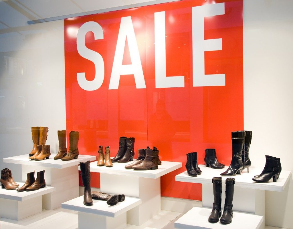 boots sale on display