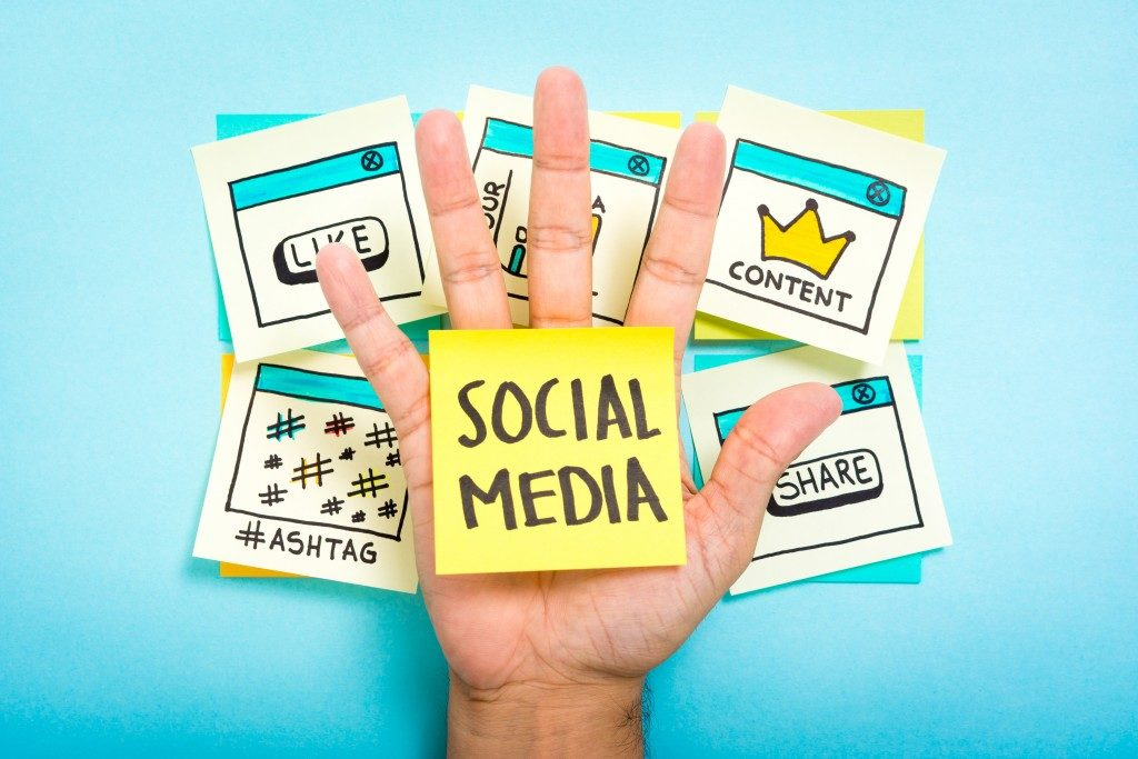 Social media post it
