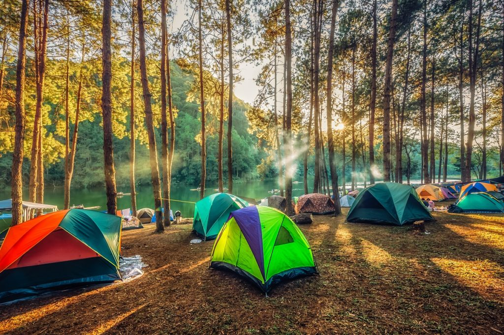 tents at an outdoor camp