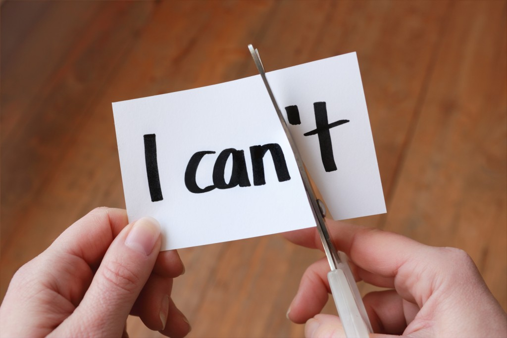 """I can't"" to ""I can"" concept"